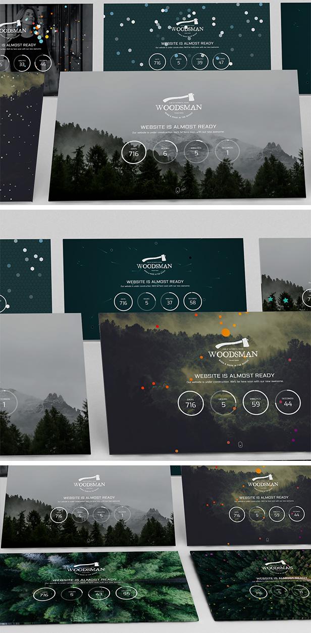 Woodsman - Exclusive Coming Soon WordPress Theme - 3